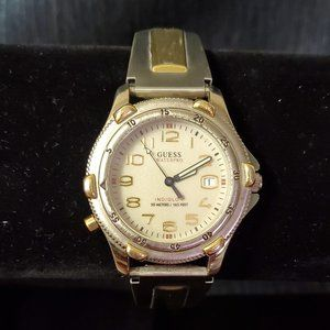 Vintage Guess Waterpro Indiglo Stretch Band Watch